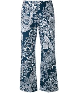 Fay | Printed Cropped Trousers 40