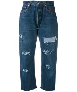 FORTE COUTURE | Distressed Cropped Jeans