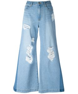 Steve J & Yoni P   Distressed Flared Jeans