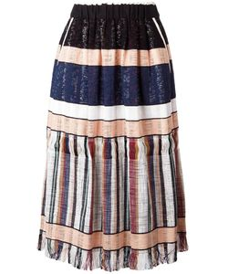 Forte Forte | Striped Gathe Skirt 1 Cotton/Polyamide/Spandex/Elastane/Cotton
