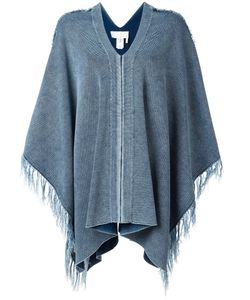 Chloe | Chloé Tassel Edge Cape Small Cotton