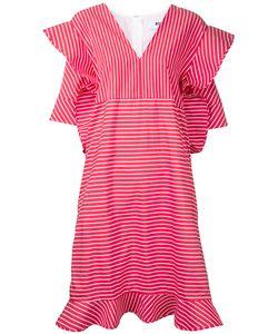 MSGM | Полосатое Платье С Отделкой В Стиле Оригами