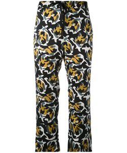 L' Autre Chose   Lautre Chose Abstract Print Cropped Trousers