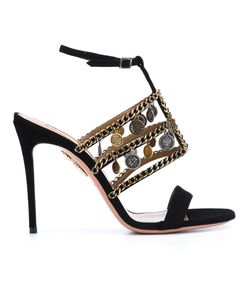 Aquazzura | X Naty Abascal Chain Trim Sandals