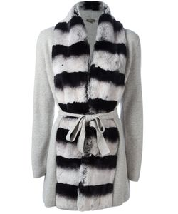 N.PEAL | Contrast Furry Cardi-Coat Size Small