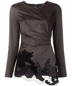 Josie Natori | Lace Draped Detail Blouse