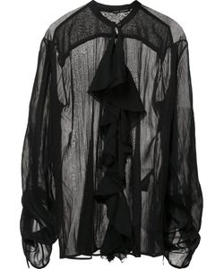 Isabel Benenato | Sheer Ruffle Blouse