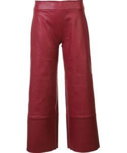STOULS | Leather Cropped Trousers