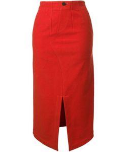 TARO HORIUCHI | Front Slit Straight Skirt