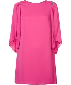 Halston Heritage | Draped Sleeves Shift Dress