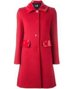 Love Moschino | Пальто С Лакированной Отделкой