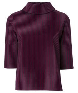TARO HORIUCHI | High Neck Striped Blouse