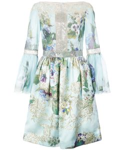 Marchesa | Embroidered Flowers Gathered Dress Women