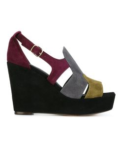 Tila March | Colour Block Wedge Sandals