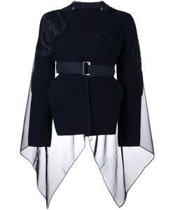 Sacai | Ribbed Cape Detail Jumper