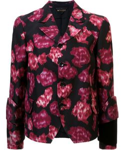 Comme Des Garcons | Abstract Print Fitted Jacket