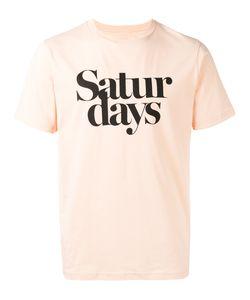 Saturdays Surf Nyc   Logo Print T-Shirt Large Cotton