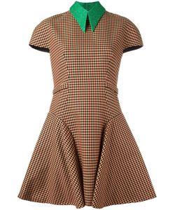 Delpozo | Платье С Короткими Рукавами В Клетку