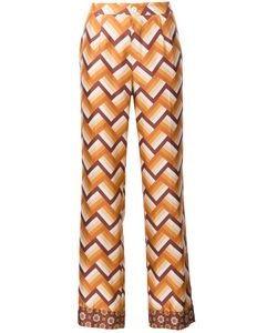 FOR RESTLESS SLEEPERS | Chevron Print Straight Trousers