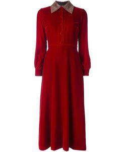 Saint Laurent | Velvet Midi Shirt Dress