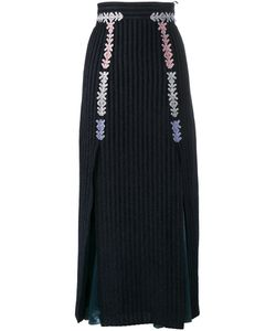 Peter Pilotto | Velvet Stripe Midi Skirt