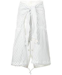 Sacai | Shirt Tie Insert Skirt
