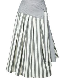 CHRISTIAN SIRIANO | Flared Stripe Skirt