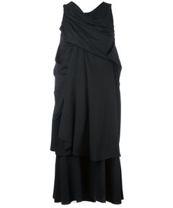 A TENTATIVE ATELIER | Драпированное Платье В Тонкую Полоску