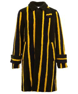 Sacai | Striped Shearling Coat
