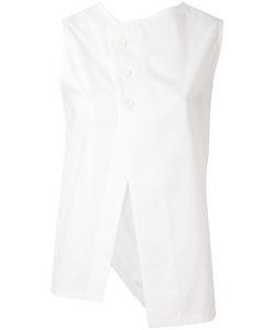 Y'S | Asymmetric Buttoned Blouse