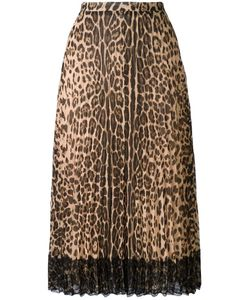 Red Valentino | Leopard Print A-Line Skirt 42 Polyester