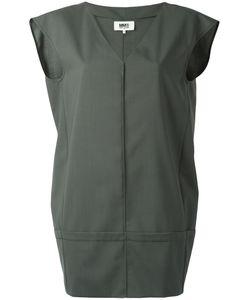 MM6 by Maison Margiela | Mm6 Maison Margiela Panelled Mini Dress 44 Wool/Polyester/Spandex/Elastane