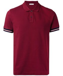 Moncler | Striped Trim Polo Shirt Size Medium