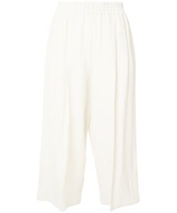 DUSAN | Cropped Linen Trousers Medium Linen/Flax