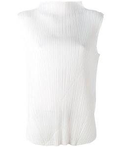 PLEATS PLEASE BY ISSEY MIYAKE | Pleated High-Neck Blouse