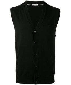 Paolo Pecora | Sleeveless V-Neck Cardigan Size Xxl