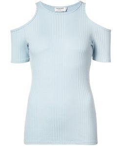 Frame Denim   Блуза В Рубчик С Открытыми Плечами