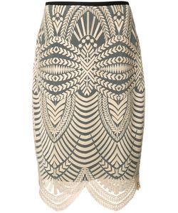Nicole Miller | Scalloped Hem Skirt 4 Polyester