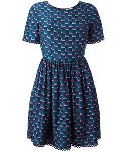 Kenzo | Fitted Top Full Skirt Dress 36 Silk