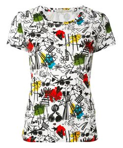 Alice + Olivia | Illustrated Print T-Shirt L