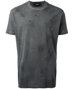 Dsquared2 | Microstudded Distressed T-Shirt Small Cotton