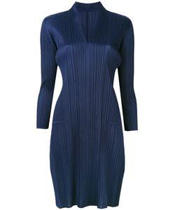PLEATS PLEASE BY ISSEY MIYAKE   Cropped Sleeve Plissé Dress