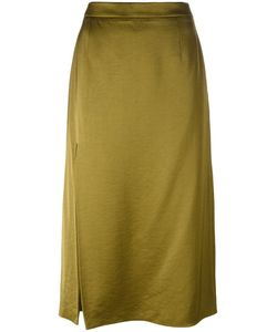 Lanvin | Side Slit Midi Skirt 36 Silk/Viscose/Polyester