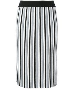 Diesel | Vertical Striped Skirt Large Viscose/Polyester
