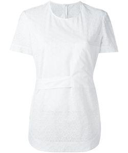 Cedric Charlier | Cédric Charlier Embroide Panel T-Shirt 42 Cotton