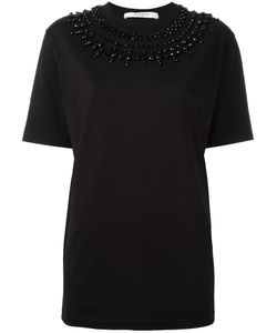 Givenchy | Embellished Neck T-Shirt 34 Cotton/Polyester/Brass
