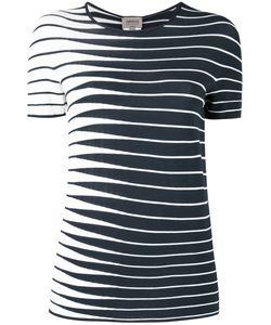 Armani Collezioni | Striped Knitted Top 46 Polyester/Viscose