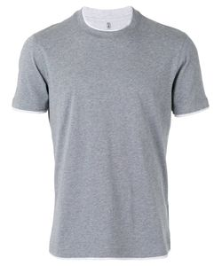 Brunello Cucinelli | Neck Detail T-Shirt Small Cotton