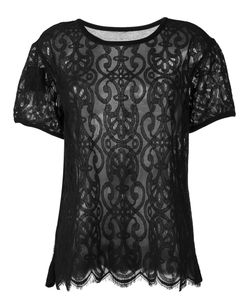 Twin-set | Lace T-Shirt Xl Cotton