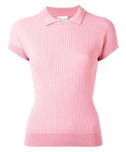 Red Valentino | Ribbed Polo Shirt